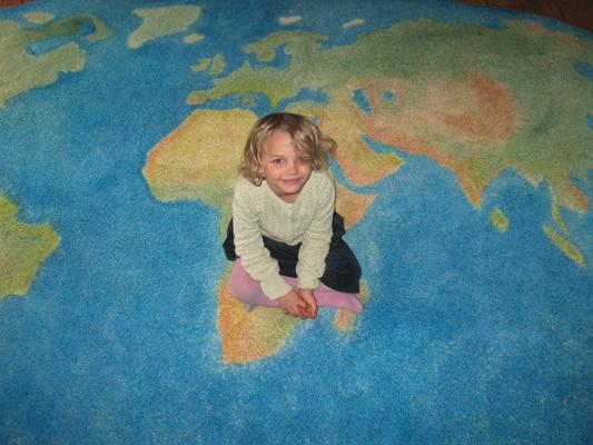 begehbare Weltkarte, W wie Wissen