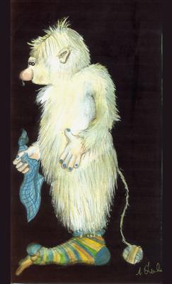 """""""Yeti Knut"""", Character für eine Kindersendung"""