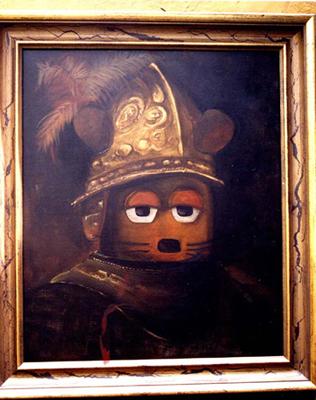 """""""Die Maus mit dem Goldhelm"""" nach Rembrandt"""