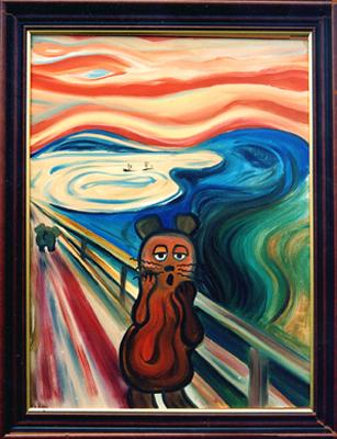 """""""Der Mäuseschrei"""" nach Munch"""
