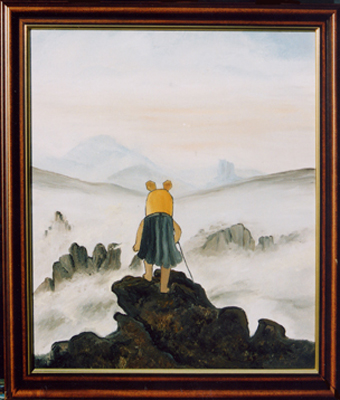 """""""Mauswanderer über dem Nebelmeer"""" nach C.D. Friedrich"""