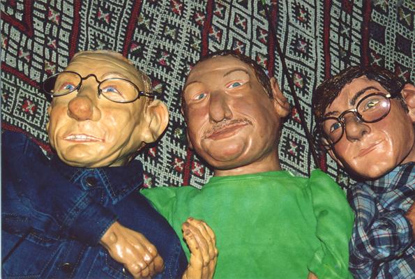 Sendung mit der Maus Stabpuppen Armin, Christoph, Ralph